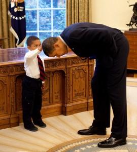 Jacob Philadelphia touching the president's hair