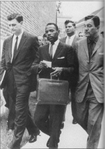 James Meredith arriving at the University of Mississippi