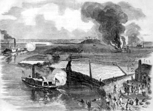 """Raid of Second South Carolina Volunteers among the Rice Plantations of the Combahee, from a Sketch by Surgeon Robinson,"" Harper's Weekly, July 4, 1863"
