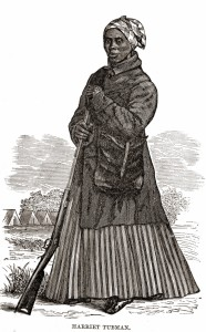 "Woodcut of Harriet Tubman during the Civil War, from Sarah H. Bradford, ""Scenes in the Life of Harriet Tubman"" (1869) (woodcut artist not listed; W.J. Moses, printer; stereotyped by Dennis Bro's & Co.)"