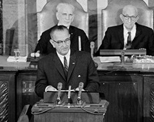 Lyndon Johnson delivers his State of the Union, January 8, 1964