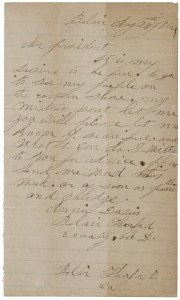 Letter from Annie Davis to President Lincoln, 1864